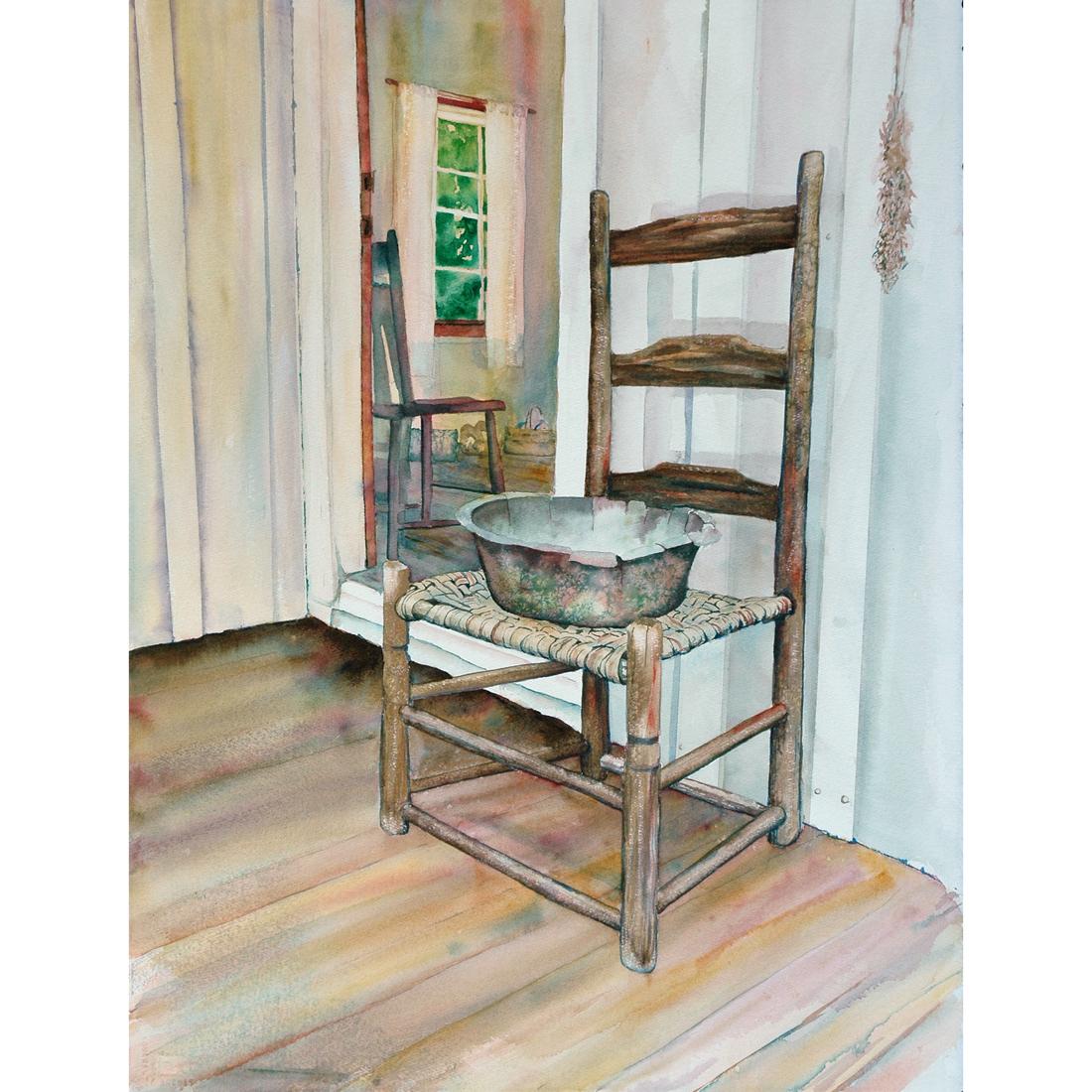 Hulda's Chair watercolor