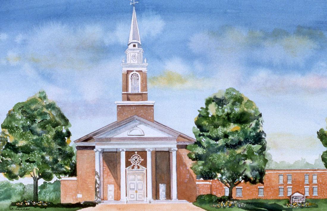 Baptist Church watercolor
