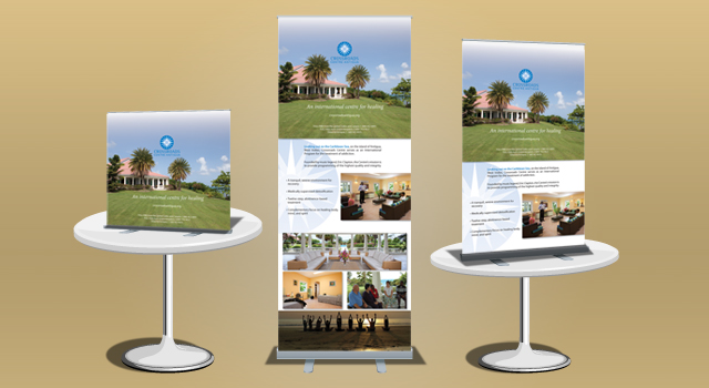 Crossroads Multi Level Banner Stand