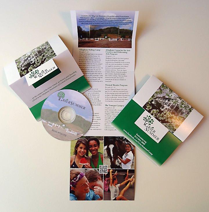 Grier Summer brochure and DVD carrier