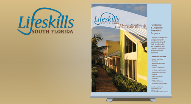 Lifeskills Brochures, Presentation Folder and Banner Stand