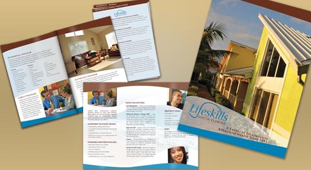 Lifeskills Brochures, Presentation Folder and Banner Stand