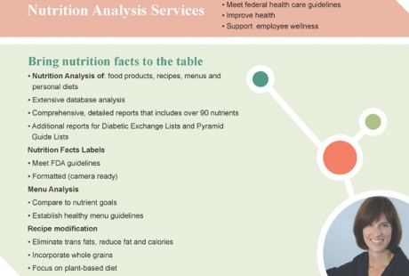 Penny Levy Nutrition Analysis one page design