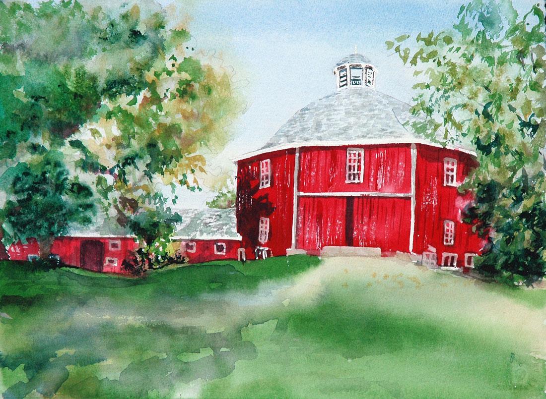 Seacrest Barn painting