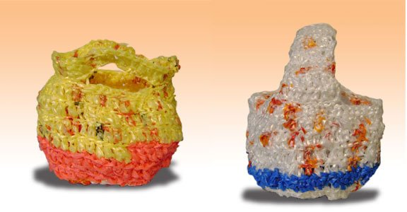 plarn crocheted baskets