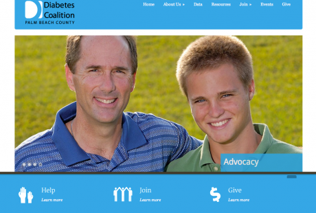 Diabetes Coalition of Palm Beach County web page