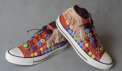 My styles sneakers, inspired by Nick Cave's Sound Suits