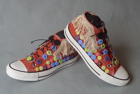 My style sneakers, inspired by Nick Cave's Sound Suits