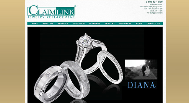 Claimlink and A. H. Fisher Diamonds web sites