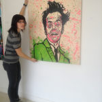 Mary Coyle with 'Watermelon Jack' by Alec Monopoly