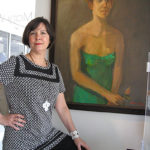 Mary Woerner with-'Green Dress' by Ida Fry