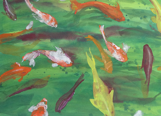 My Nihonga painting of koi
