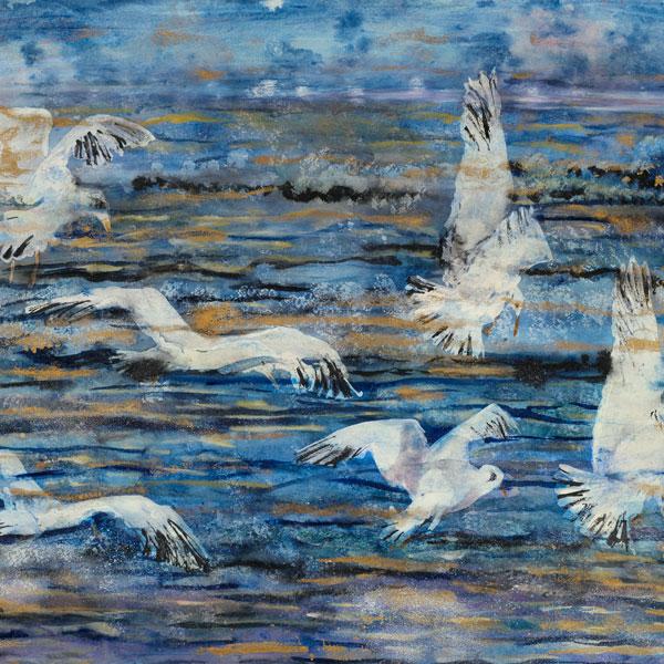 Flight at Dawn, Gulls-Orange Feet and Gulls-Conversation