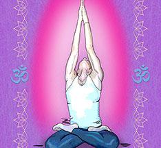 Yoga Icons artwork on canvas