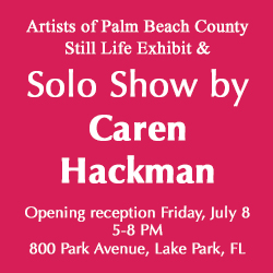 Solo exhibit opens July 8