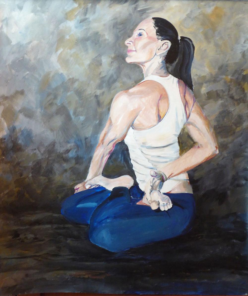 KB Lotus Twist Yoga painting