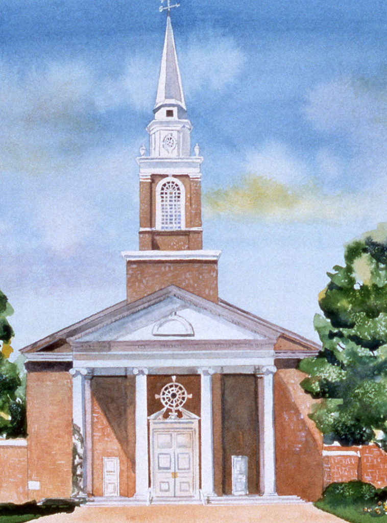 Baptist Church watercolor