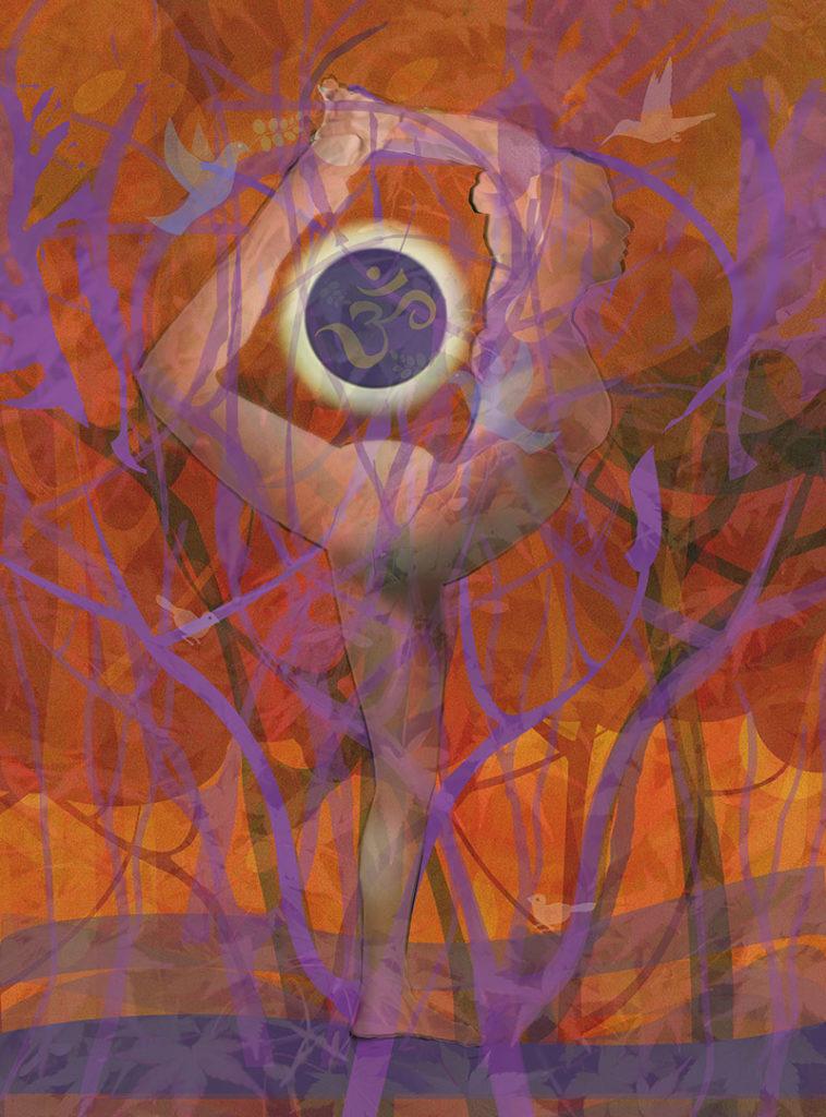 YogaPainter work Eclipse-Natarajasana