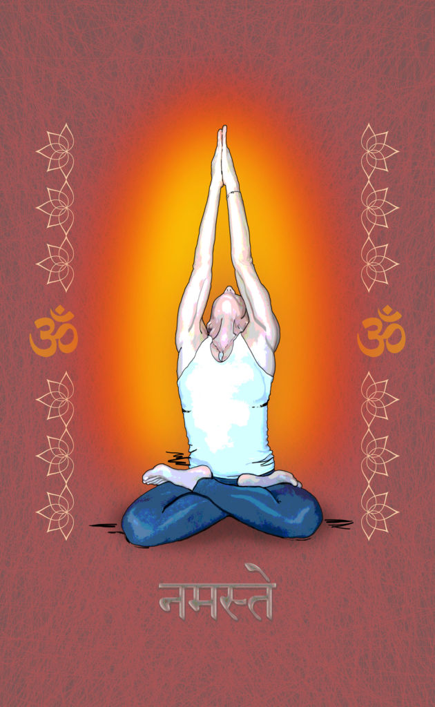 lotus namaste warm glo yoga art