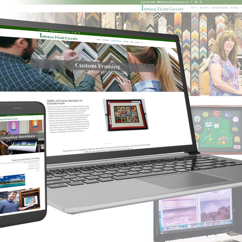 Imperial Frame Gallery website.