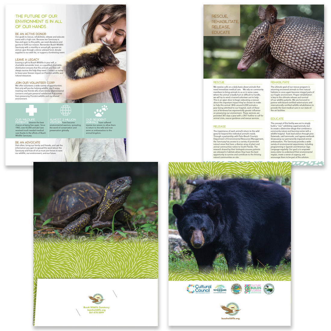 Busch Wildlife Sanctuary brochure